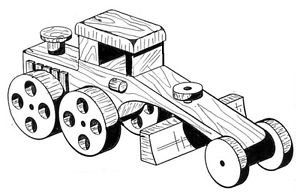 Road Grader #305 - Woodworking / Craft Patterns