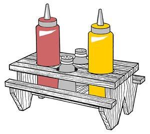 Condiment Holder #310 - Woodworking / Craft Pattern