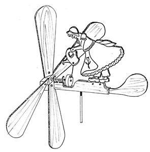 Flower Girl Whirligig #607 - Woodworking / Craft Pattern