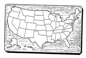 """USA Puzzle Map #526 - """"ON SALE"""" Woodworking / Craft Patterns"""