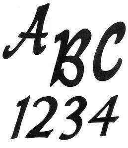TRACEABLE  ALPHABET #117  -  Woodworking / Craft Pattern