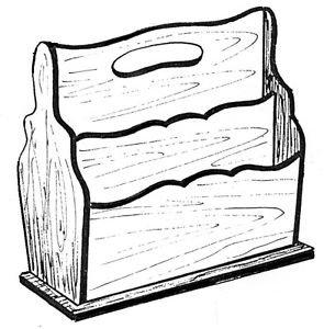Magazine Rack #150 - Woodworking / Craft Pattern