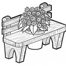 "BENCH PLANTER #705 -  ""ON SALE""  Woodworking / Craft Pattern"
