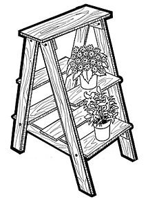 "Plant Ladder #704 -  "" ON SALE"" Woodworking / Craft Pattern"