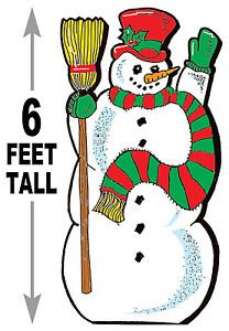 """6 foot Snowman #625 - """"ON SALE"""" Woodworking / Craft pattern"""