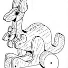 "Kangaroo Pull or Play Toy #108 - ""ON SALE""  Woodworking / Craft Pattern"