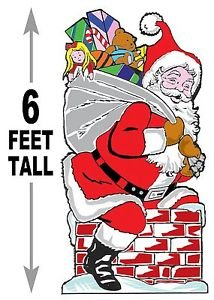 """6 foot SANTA Down the Chimney #621 - """"ON SALE"""" Woodworking / Craft pattern"""