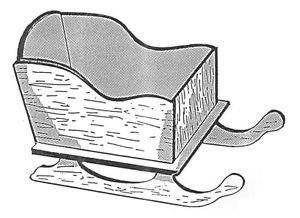 "Sleigh Planter #152 -  "" ON SALE""  Woodworking / Craft Pattern"