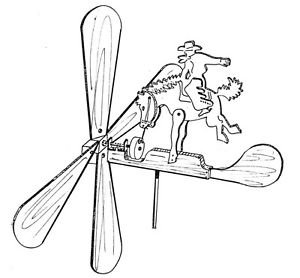 Rodeo Champ Whirligig #609 - Woodworking / Craft Pattern