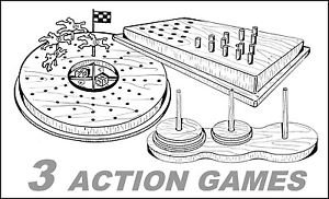 """3 Action Games #701-2-3 - """"ON SALE"""" Woodworking / Craft Pattern"""