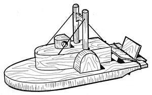 Paddle Boat #217- Woodworking / Craft Patterns