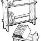 E-Z Book Rack #153 - Woodworking / Craft Pattern