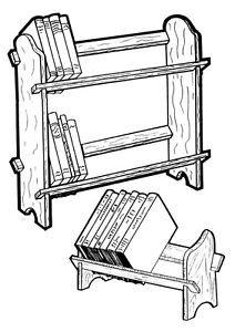 E-Z Book Rack #153 - Woodworking / Craft Pattern