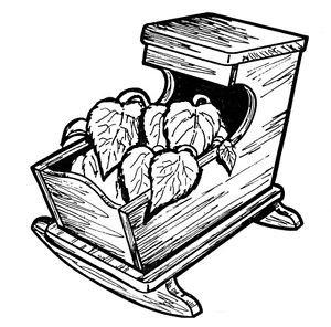 Cradle Planter #709 - Woodworking / Craft Pattern