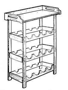 Wine Rack and Tray #161 - Woodworking / Craft Pattern