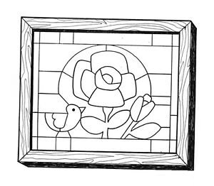 Robin & Rose Art Puzzle #515 - Woodworking / Craft Patterns