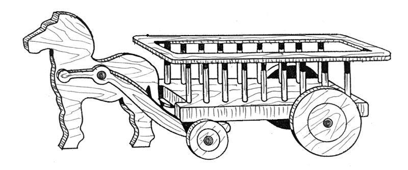 "Wagon Planter #707 - ""ON SALE"" Woodworking / Craft Pattern"