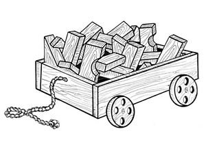 """Wagon and Blocks #912 - """"ON SALE"""" Woodworking / Craft Pattern"""