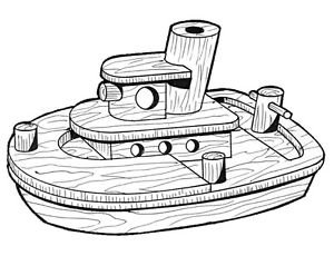 Tug Boat #215 - Woodworking / Craft Patterns
