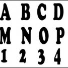 TRACEABLE ALPHABET #115-  Woodworking / Craft Pattern