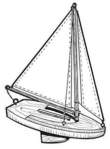 Sail Boat #216 - Woodworking / Craft Patterns