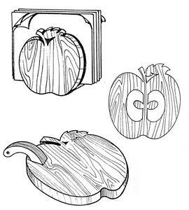 "Apple Set Kitchen Helpers #307 - ""ON SALE"" Woodworking / Craft Pattern"