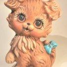 Hand Painted Ceramic Brown Dog Figurine Puppy Handmade