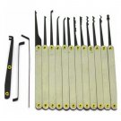 GOSO 12 Pieces Lock Pick Set w/ Leather Case