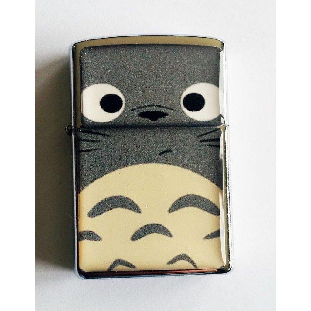 Totoro - Oil Windproof Flip Top Black Lighters Briquet Encendedor 2