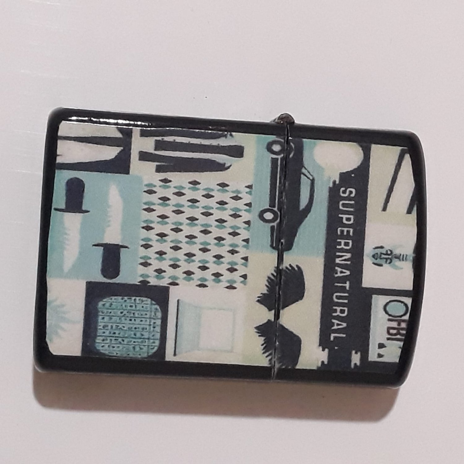 Supernatural Collage Art - Oil Windproof Flip Top Black  Refillable Free Shipping 1