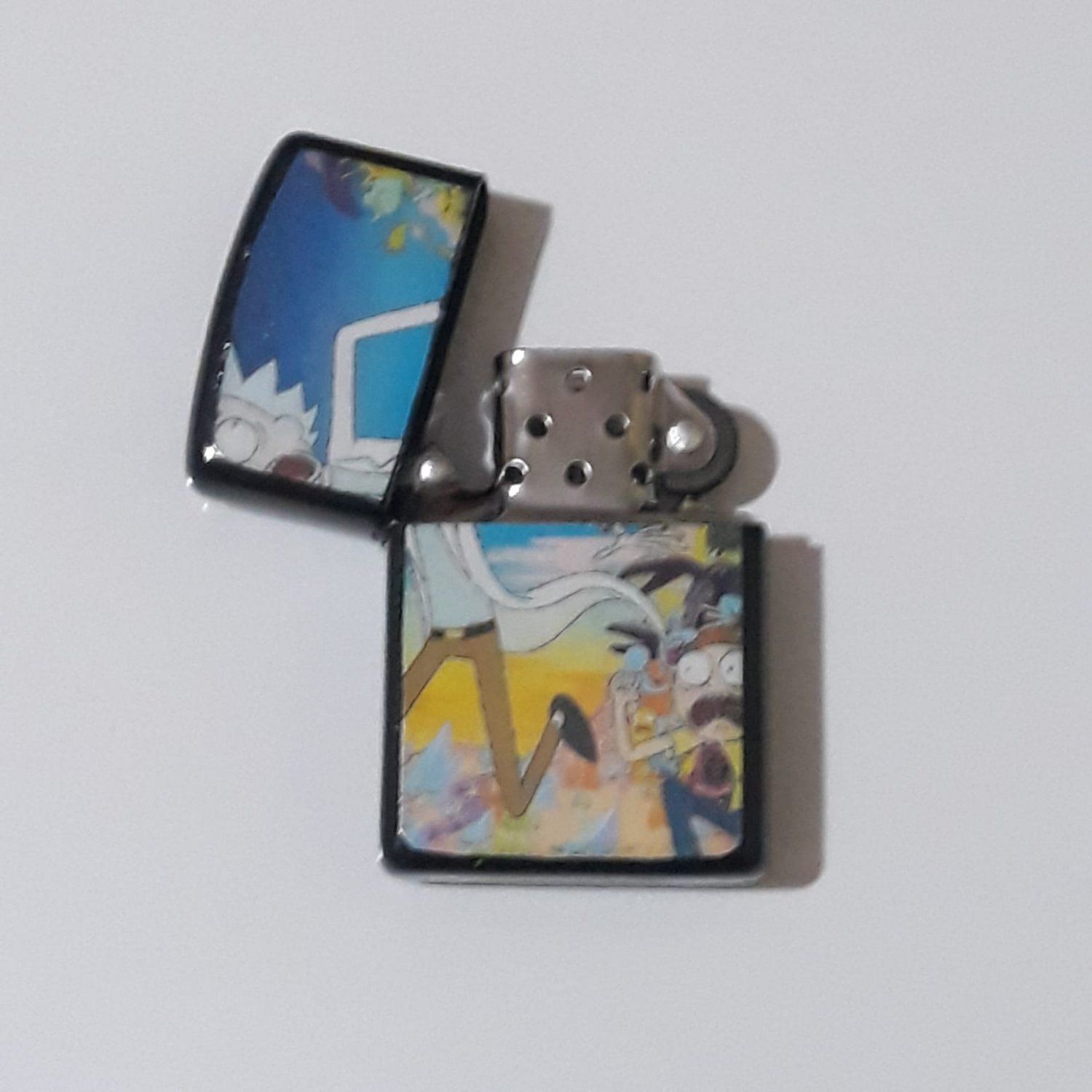 Rick And Morty And Monsters - Oil Windproof Flip Top Black Lighters Briquet Encendedor 1