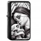 1 Day of The Dead Mexico Mexican - Oil Windproof Flip Top Black Lighters Briquet Encendedor 2