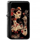 4 Day of The Dead Mexico Mexican - Oil Windproof Flip Top Black Lighters Briquet Encendedor 2