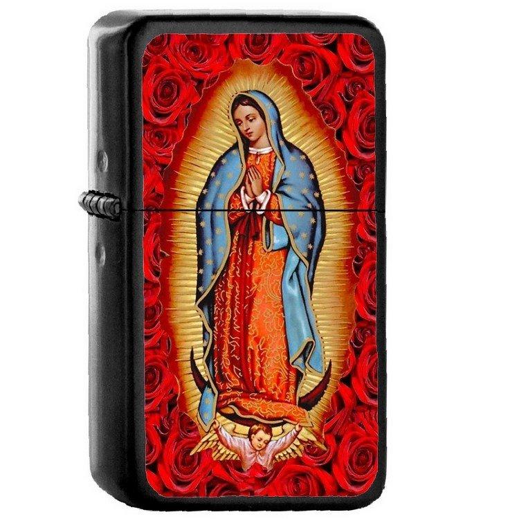 Virgen De Guadalupe - Oil Windproof Flip Top Black Lighters Briquet Encendedor 2