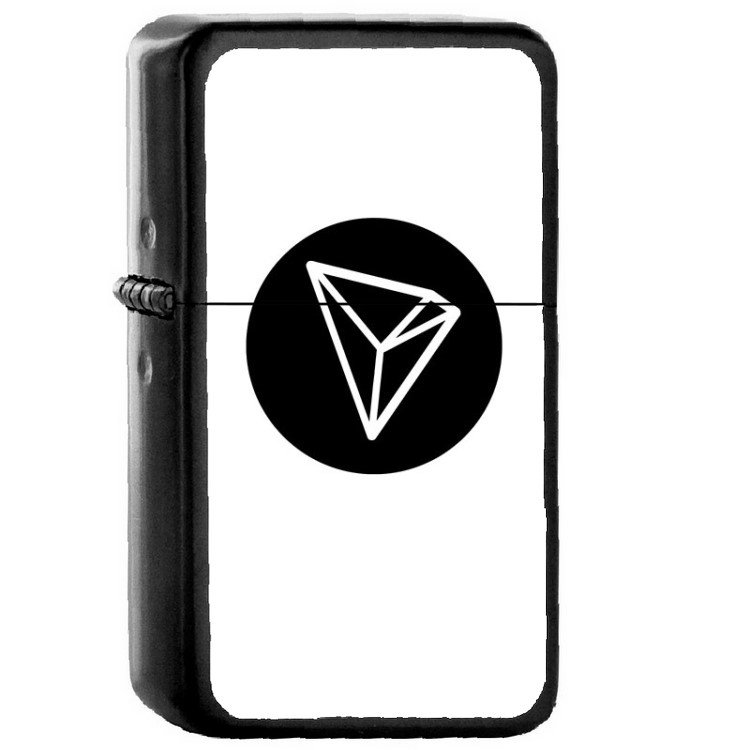 TRON TRX Coin Cryptocurrency � Oil Windproof Flip Top Black Lighters 116