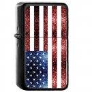 United States of America Country National Emblem Flag - Oil Flip Top Black Lighters 2581