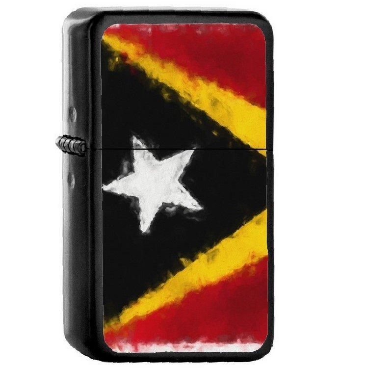 Timor-Leste Country National Emblem Flag - Oil Flip Top Black Lighters 2486