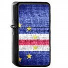Cabo Verde Country National Emblem Flag - Oil Flip Top Black Lighters 1267