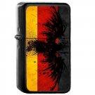Germany Country National Emblem Flag - Oil Windproof Flip Top Black Lighters Briquet Encendedor 1608