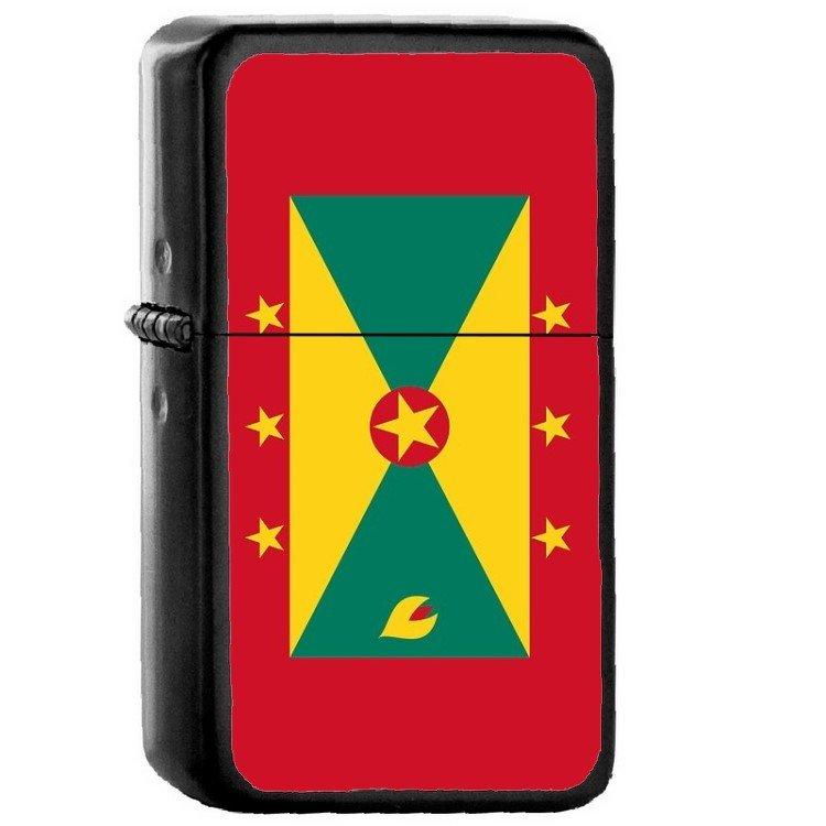Grenada Country National Emblem Flag - Oil Flip Top Black Lighters 1639