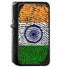 India Country National Emblem Flag - Oil Windproof Flip Top Black Lighters Briquet Encendedor 1721