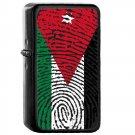Jordan Country National Emblem Flag - Oil Windproof Flip Top Black Lighters Briquet Encendedor 1811