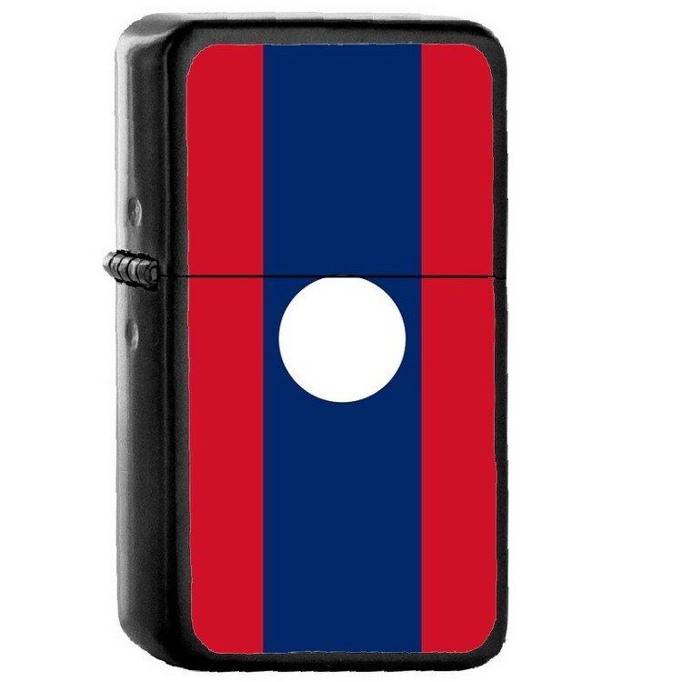 Laos Country National Emblem Flag - Oil Flip Top Black Lighters 1862