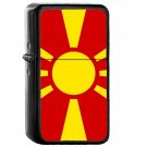 North Macedonia Country National Emblem Flag - Oil Flip Top Black Lighters 2123