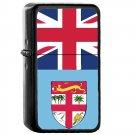 Fiji Country National Emblem Flag - Oil Windproof Flip Top Black Lighters Briquet Encendedor 1550
