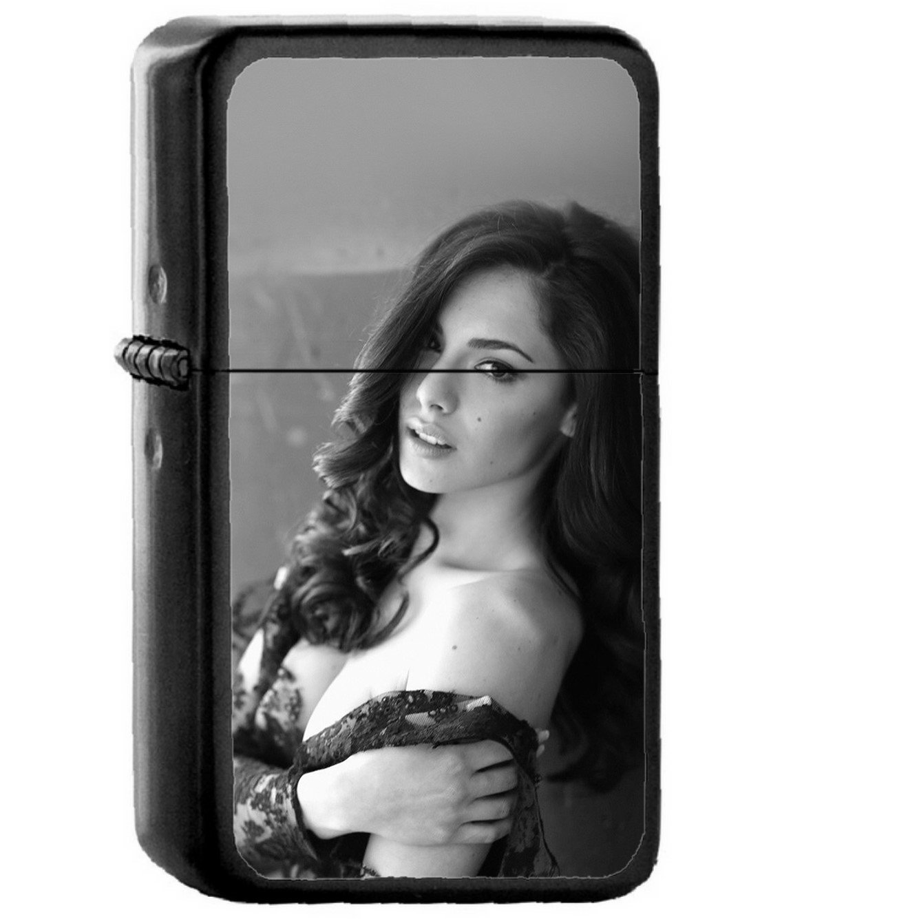 Carlotta Maggiorana Model Dark Sexy - Oil Windproof Black Lighters Briquet Encendedor