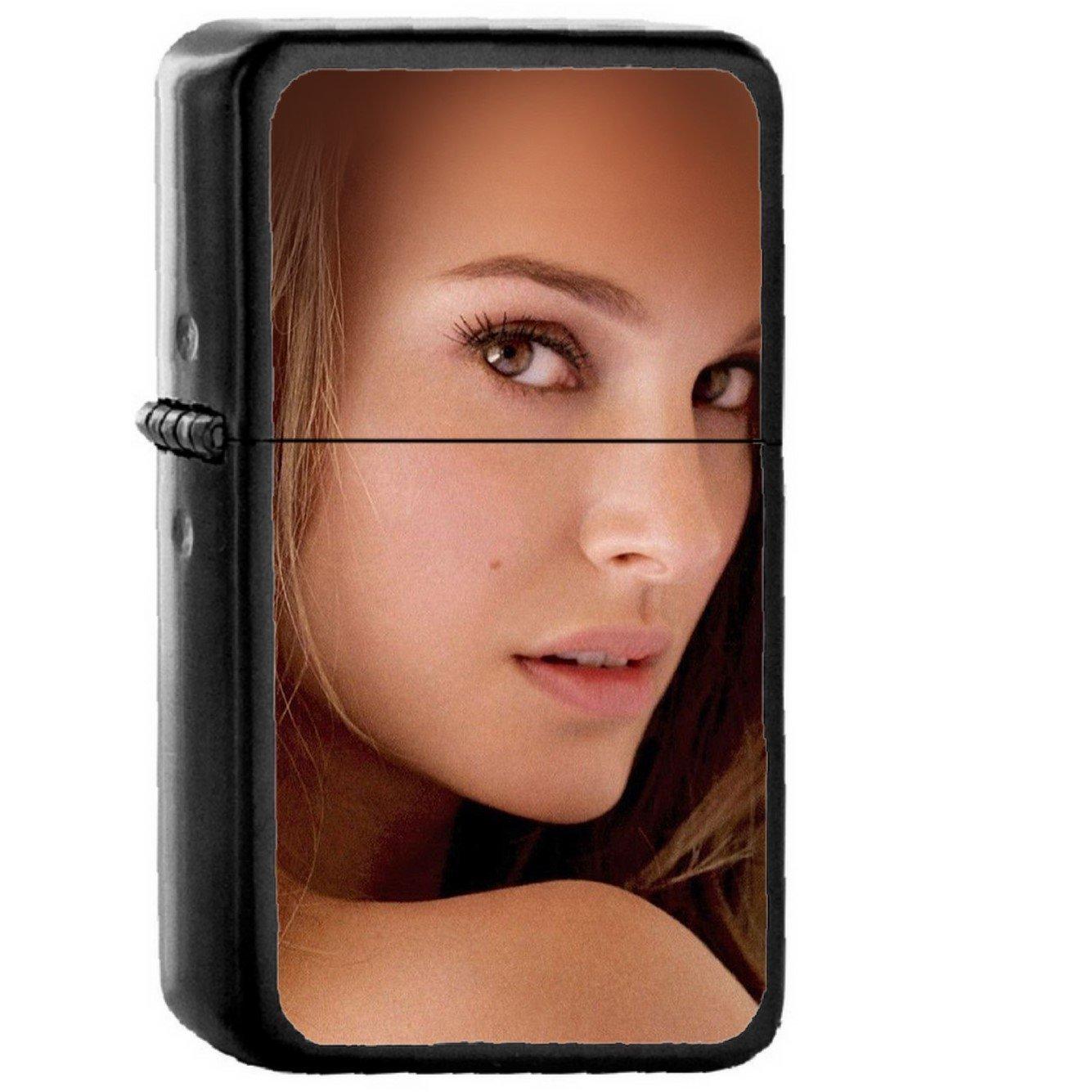 Natalie Portman Girl Film - Oil Windproof Black Lighters Briquet Encendedor