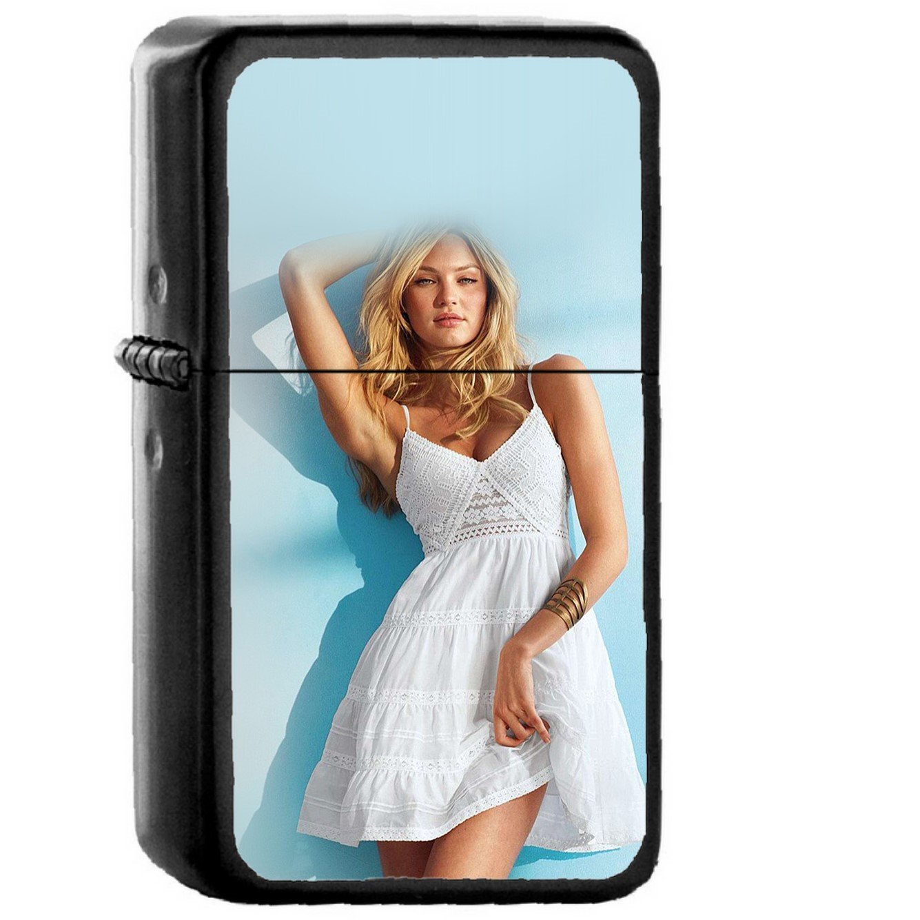 Model Candice Swanepoel Girl Victoria - Oil Windproof Black Lighters