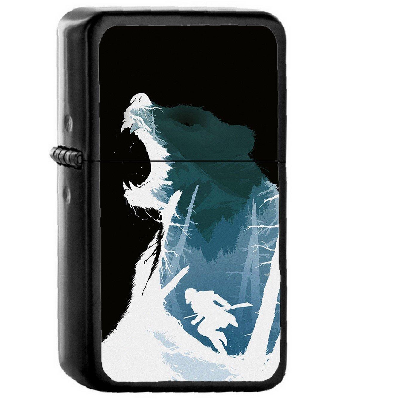 Revenant Dicaprio Poster Film Art Bear Dark - Oil Windproof Black Lighters Briquet Encendedor