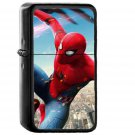 Spiderman Hero Marvel Avengers Art Illustration - Oil Windproof Black Lighters